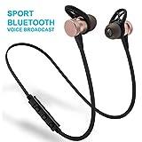 Xljh Headset Handy drahtlose Bluetooth Stereo-Magnet-7.1 In-Ear-Kopfhörer Sport-Ohrstöpsel,Gold