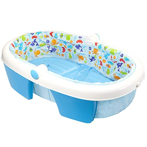 QIQIDEDIAN Bañera Inflable Bebé Bañera de hidromasaje Inflable Bañera de baño Plegable Engrosamiento...