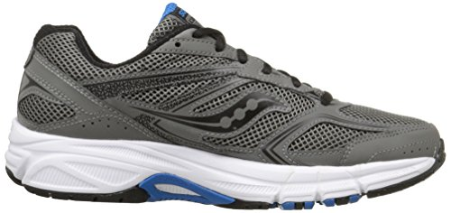 Saucony Mens Cohesion 9 Running Shoe, Grey/Black/Royal, 10 M US Grey/Black/Royal