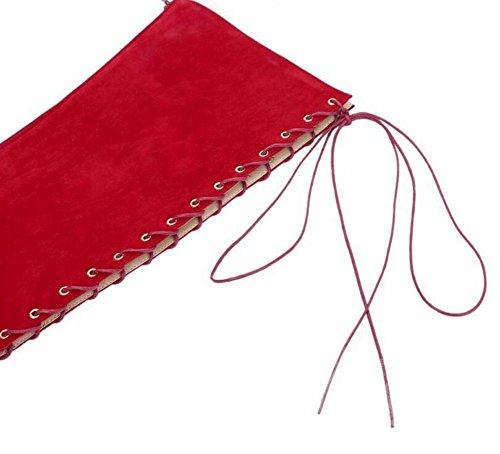 GLTER Frauen Pumps Knie Lange Sandalen Schuhe Stiefel Peep-Toe Court Schuhe Red Black Red