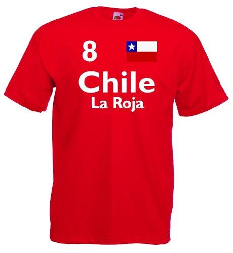 Chile La Roja Herren T-Shirt Trikot WM 2014|xl