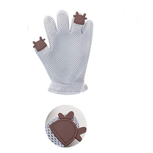 DingDing Haustier Handschuhe, Handschuhe Mit Borsten/Haarentfernung/Kamm/Trockene Massage Produkte (Farbe : C) -