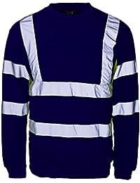 Fast Fashion 13151 Männer Hallo Viz Arbeitskleidung Sicherheits Sweatshirt Reflektor Jumper…