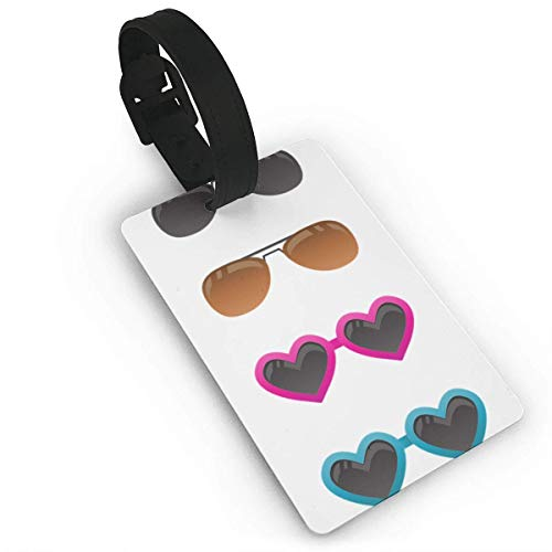 Various Styles of Sunglasses Personalized PU Leather Kofferanhänger Suitcase Labels Bag Travel Accessories