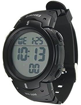 Armbanduhr - SKMEI Wasserdichte LED Licht Digitale Datum Alarm Armbanduhr fuer Maenner Frauen als Sport Geschenk...