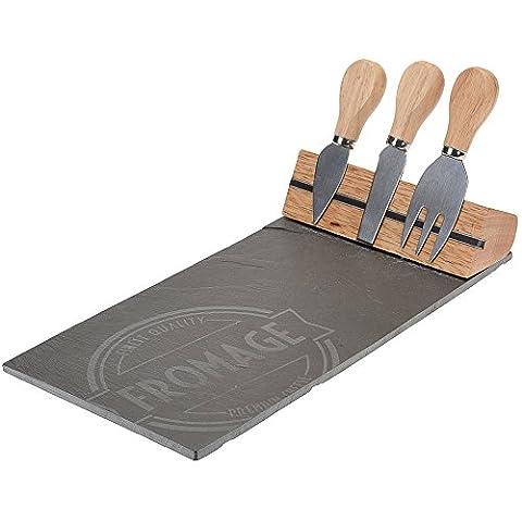 Käsebrett mit 4 Messer