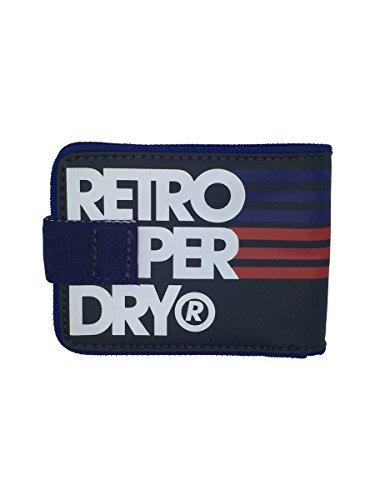 Superdry Uomo Retro Tarp Portafoglio in Blu Navy blu Navy blue