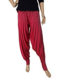 FABRICS CLOUD Soft Women's Viscose Spandex Premium Patiala Salwar Pant (35 Colors - XL, XXL)