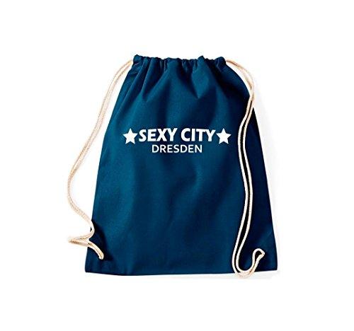 Turnbeutel Sexy City Dresden Dein Stadtbeutel Gymsack Kultsack Navy
