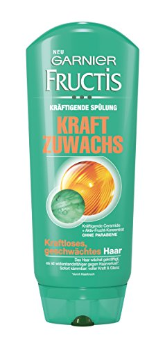 Garnier Fructis Kraft Zuwachs Spülung, Conditioner für kraftloses, geschwächtes Haar, 6er Pack (6 x 200 ml)