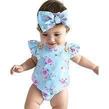 vestidos nina fiesta Switchali Recién nacido Bebé Niña verano Ropa floral mono m