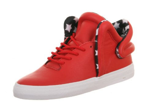 Supra Falcon, athletic red white Rouge