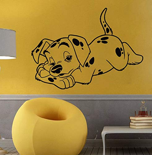Dalxsh Vinyl Wall Decal Animal Wall Sticker Dalmatian Puppy Dog Pet Shop Kids Room Decoration Art Removeable 40X57Cm (Puppy Halloween Wallpaper)