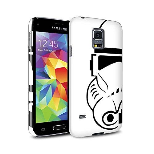 Stuff4 Lucidare Duro Snap On Custodia/Cover/Caso/Cassa del Telefono per Samsung Galaxy S5 Mini/Clone Soldato/Assalto Soldato Casco Disegno