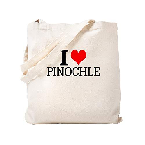 CafePress I Love Pinochle Einkaufstasche aus Leinen, naturfarben - Diva Trockner