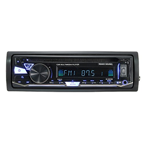 HITSAN Bluetooth Car Multimedia DVD Player with BT & DISC & FM/AM Radio & RDS Receiver One Piece