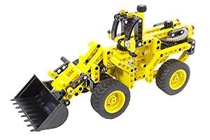 Tekno Toys 85000052-Active Bricks 2in1radlader y Tanque
