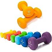 2er-Set Neopren-Hanteln »Peso« Kurzhanteln in verschiedenen Gewichts- und Farbvarianten ( 0,5kg, 0,75kg, 1kg, 1,5kg, 2kg, 3kg & 4kg )