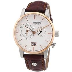 Bruno Söhnle Men's Quartz Watch Milano 2 GMT 17-63043-241 with Leather Strap