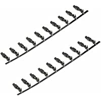 AERZETIX: 20 x Terminales PIN hembra para conector enchufe ISO QUADLOCK autoradio