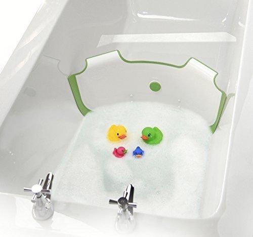 BabyDam Bathwater Barrier (White/Green) 2