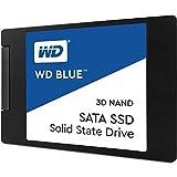 WD Blue 3D NAND 500GB. Interne NAND SATA III-SSD, 6 Gbit/s 2,5 Zoll (7mm) Festplatte von Western Digital. Verbesserte Energieeffizienz. Optimiert für Multitasking und ressourcenintensive Anwendungen WDS500G2B0A