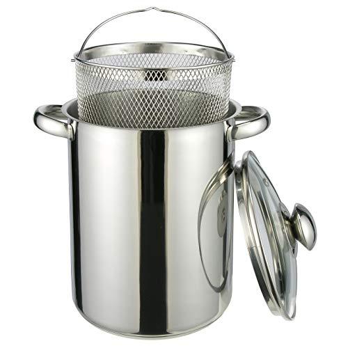 HI Nudeltopf & Spargeltopf hoch (Kochtopf 4 Liter, mit Sieb und Deckel) - Pastatopf mit Siebeinsatz, Hoher Kochtopf, ideal als Spargel Topf oder Spaghetti Kochtopf