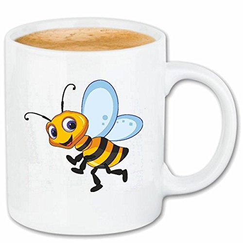 Reifen-Markt Kaffeetasse FRÖHLICHE Biene WESPE WESPE Honig FALTENWESPEN HORNISSE Keramik 330 ml in...