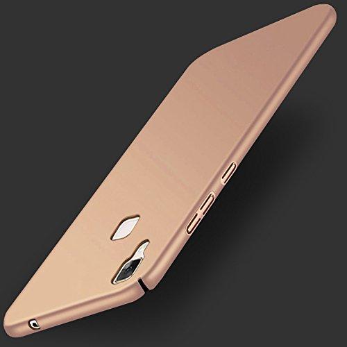 WOW Imagine(TM) All Sides Protection '360 Degree' Sleek Rubberised Matte Hard Case Back Cover For VIVO V3 MAX - Champagne Gold