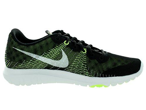 Nike bambini Flex Fury (gs) Nero / bianco / volt / flash Lime Scarpa da corsa 5.5 Bambini siamo Black/White/Volt/Flash Lime
