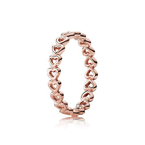 Pandora Damen-Motivring Silber_vergoldet mit \'- Ringgröße 56 (17.8) 180177-56