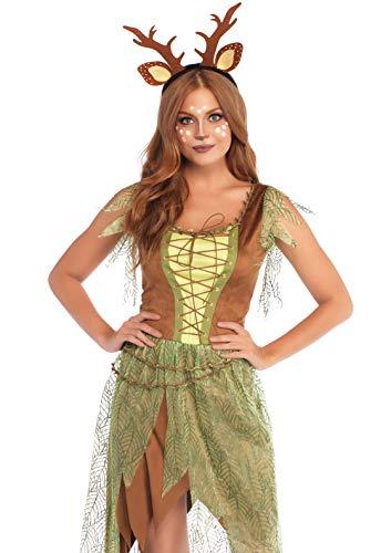 Leg Avenue 8674803101 2 teilig Set Wald Hirsch, Damen Karneval Kostüm Fasching, Mehrfarbig, Größe L (EUR - Leg Avenue 2 Teilig Kostüm