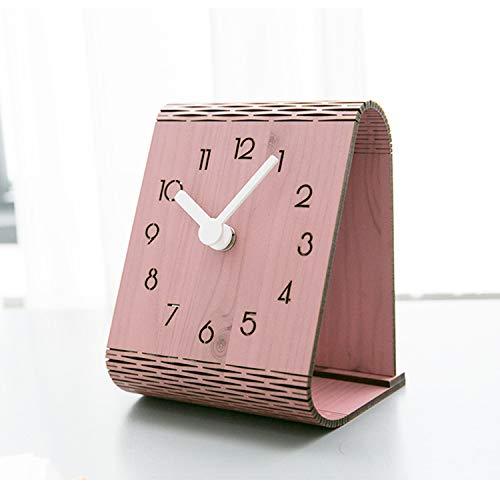 XUEQQ wecker Kreative Feste Holz Bett Kopf Alarm Uhr Log elektronischer Taktgeber Stereo-Uhr nach Hause Schlafzimmer zu Studieren -