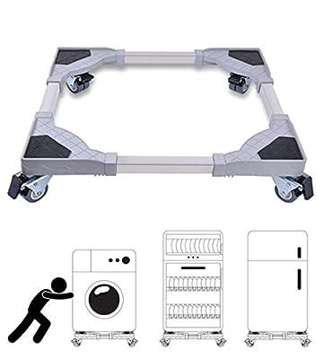 Haushaltsgeräte Roller, elektrische Haushaltswagen mit Rollen einstellbare Waschmaschine Basis abnehmbaren Elektro-Rad für Wäschetrockner, Herd, Kühlschrank, Gefrierschrank