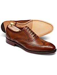 Chestnut Made In England Oxford Brogue Shoe by Charles Tyrwhitt