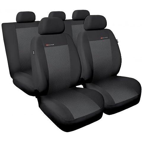 Universelle Schonbezüge Sitzbezüge Komplettset Auto-Dekor Elegance SEAT ALTEA, CORDOBA, IBIZA, LEON, MALAGA, TOLEDO (Grau 3)