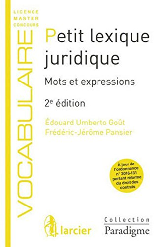Petit lexique juridique: Mots et expressions