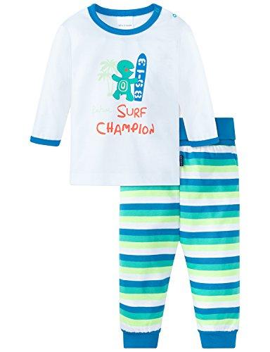 Schiesser Baby-Jungen Zweiteiliger Schlafanzug Anzug 2-Teilig, Weiß (Weiss 100), 62