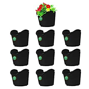 Trust basket Vertical Gardening Pouches XL (Black) - Set of 10