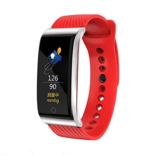 YWYU Fitness Tracker Activity Tracker Uhr mit Pulsmesser, IP67 Wasserdichtes Smart Armband mit Kalorienzähler Schrittzähler Uhr für Android und iOS (Farbe : Red)