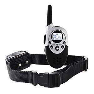 Rechargeable Étanche Chien Collier de Dressage Gamme Pet Télécommande Anti Aboiement Choc + Vibra + Électrique