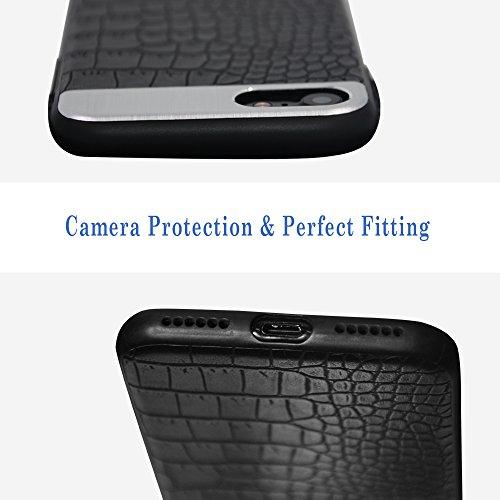 iPhone 7Plus case, Cimoxi Slim e Fit case, PU leather cover Slim custodia per iPhone 7Plus-nero