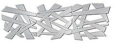 Idea Regalo - DEKOARTE Specchio moderno da parete decorativo con forme irregolari (3 piezas (60x60 cm))