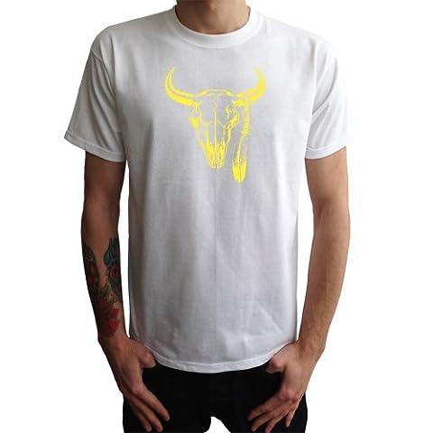 T-shirt de crâne Indiens Hommes animale, kaki,