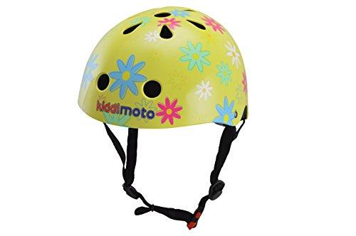 kiddimoto 2kmh029m - Design Sport Helm Flower, Blumenkind M für Kopfumfang 53-58 cm, 5-12+ Jahre