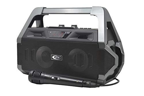 ITK Altavoz Bluetooth Karaoke Radio Micrófono Lector