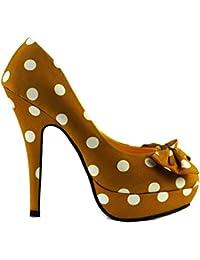 Fistchange Fer Votre Plate-forme Des Taches Chausson - Chaussures À Talons Femme, Jaune, Taille 35.5