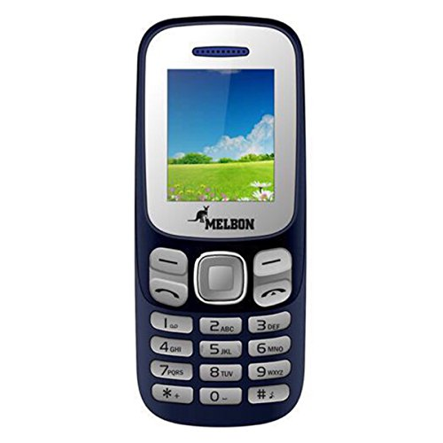 Melbon DUDE-99 Moblie Phone (Dual Sim, Blue)