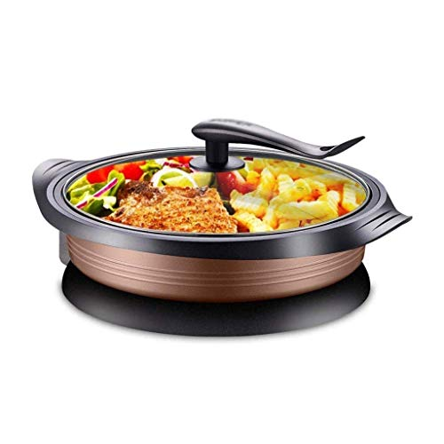 GZQDX Sartén, Cocina eléctrica eléctrica Hot Pot eléctrica Barbacoa eléctrica Molde de Horno 1800W...