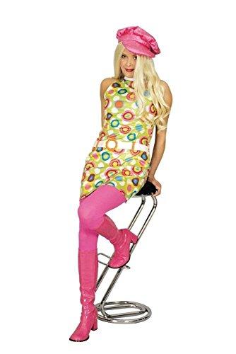 KARNEVALS-GIGANT Go Go Girl Kostüm bunt für Damen | Größe 36/38 | 2-teiliges Flower Power Kostüm | Hippie Faschingskostüm für Frauen | 70er Jahre Outfit für ()